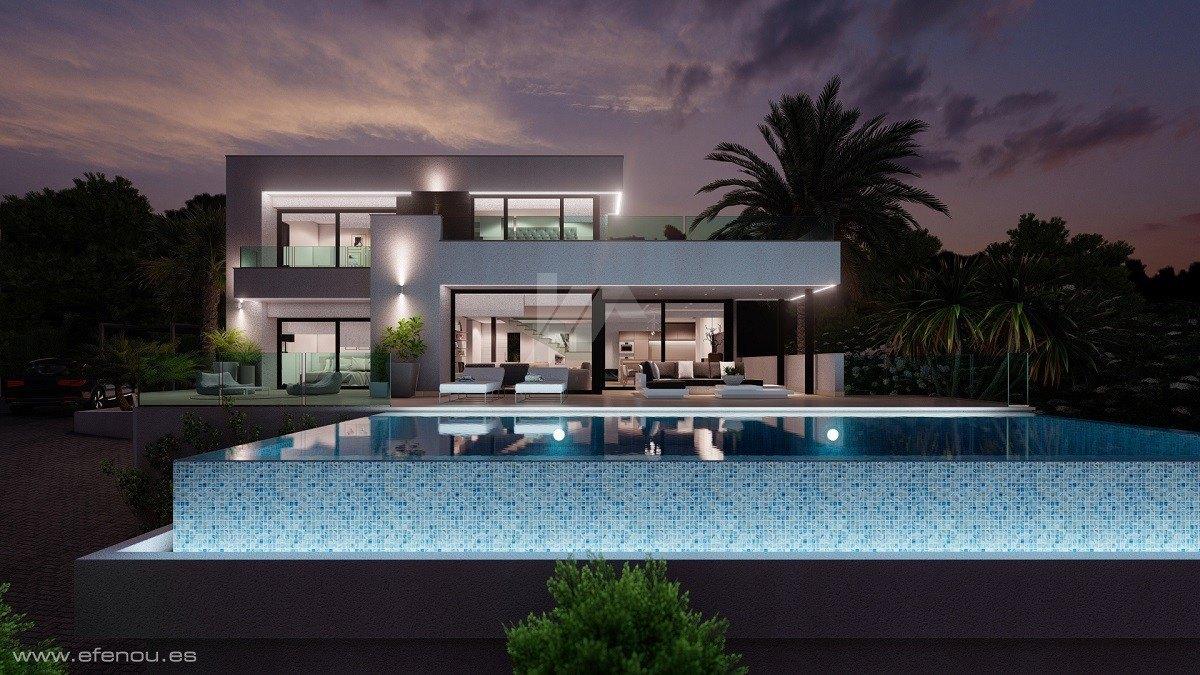 Nieuwbouw Villa te koop in Moraira, Costa Blanca.