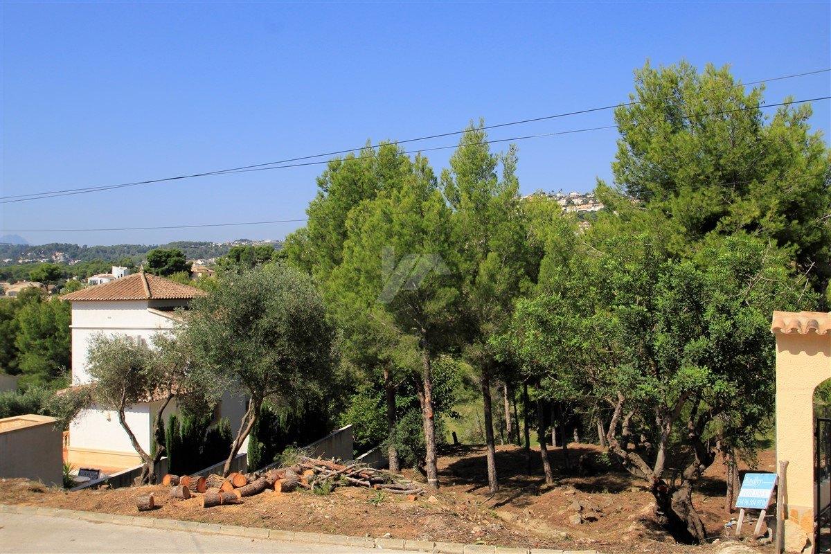 Bouwgrond met uitzicht op de bergen te koop in Benissa, San jaime.