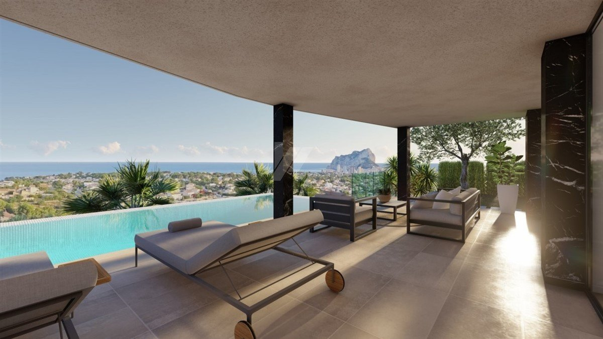 Sea view villa te koop in Calpe, Costa Blanca.