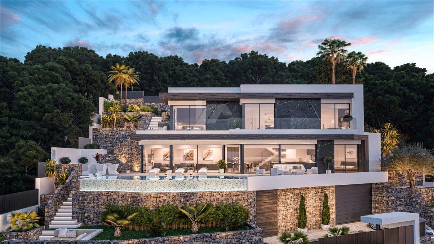 Luxe overzeese meningsvilla voor verkoop in Calpe, Costa Blanca.